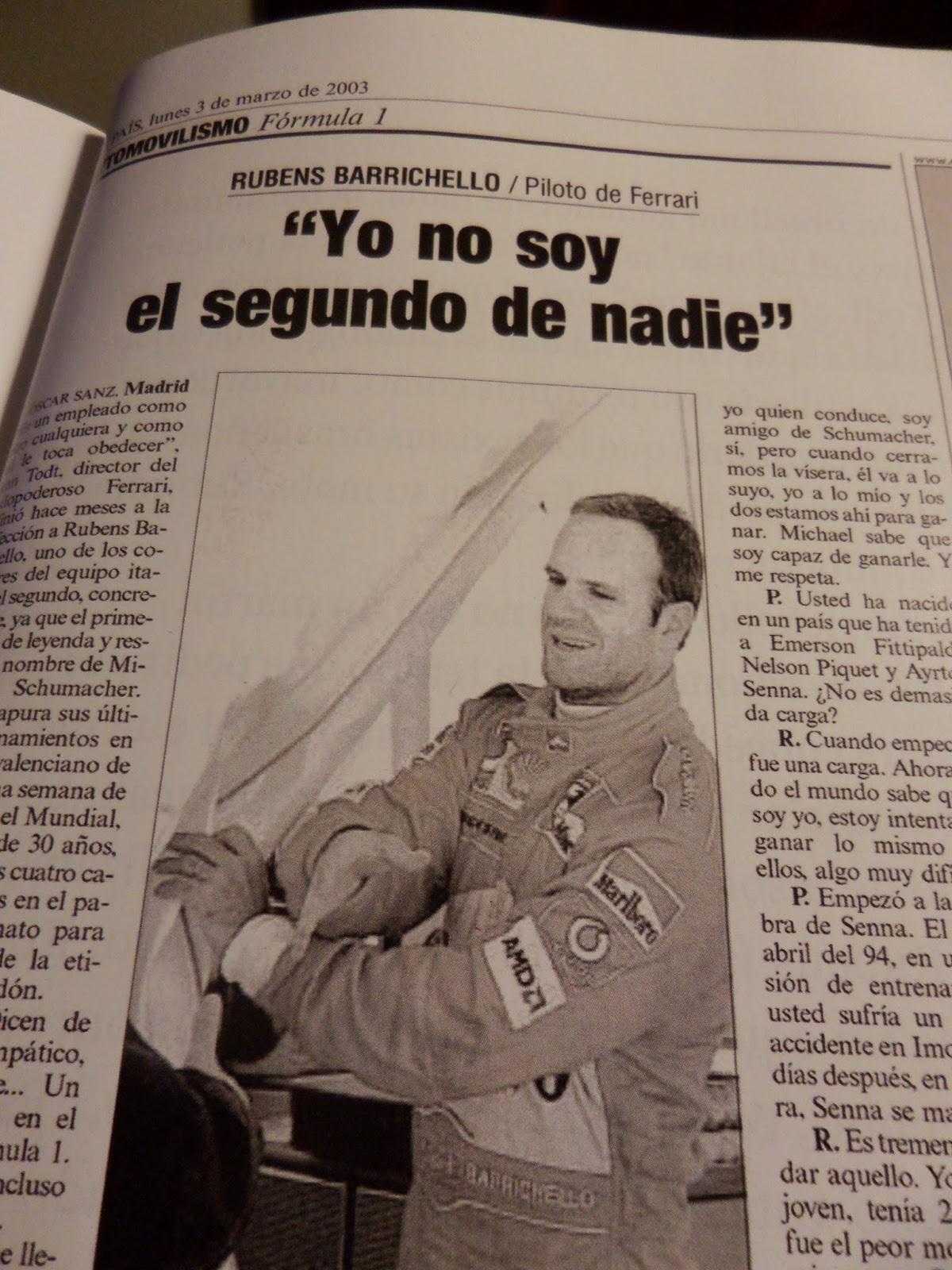 Rubens Barrichello, En qué estaría yo pensando, periodismo, errores, fails