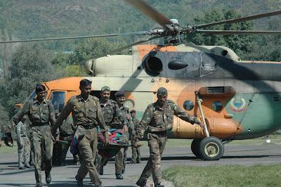 BSF Mi-17 performs CASEVAC