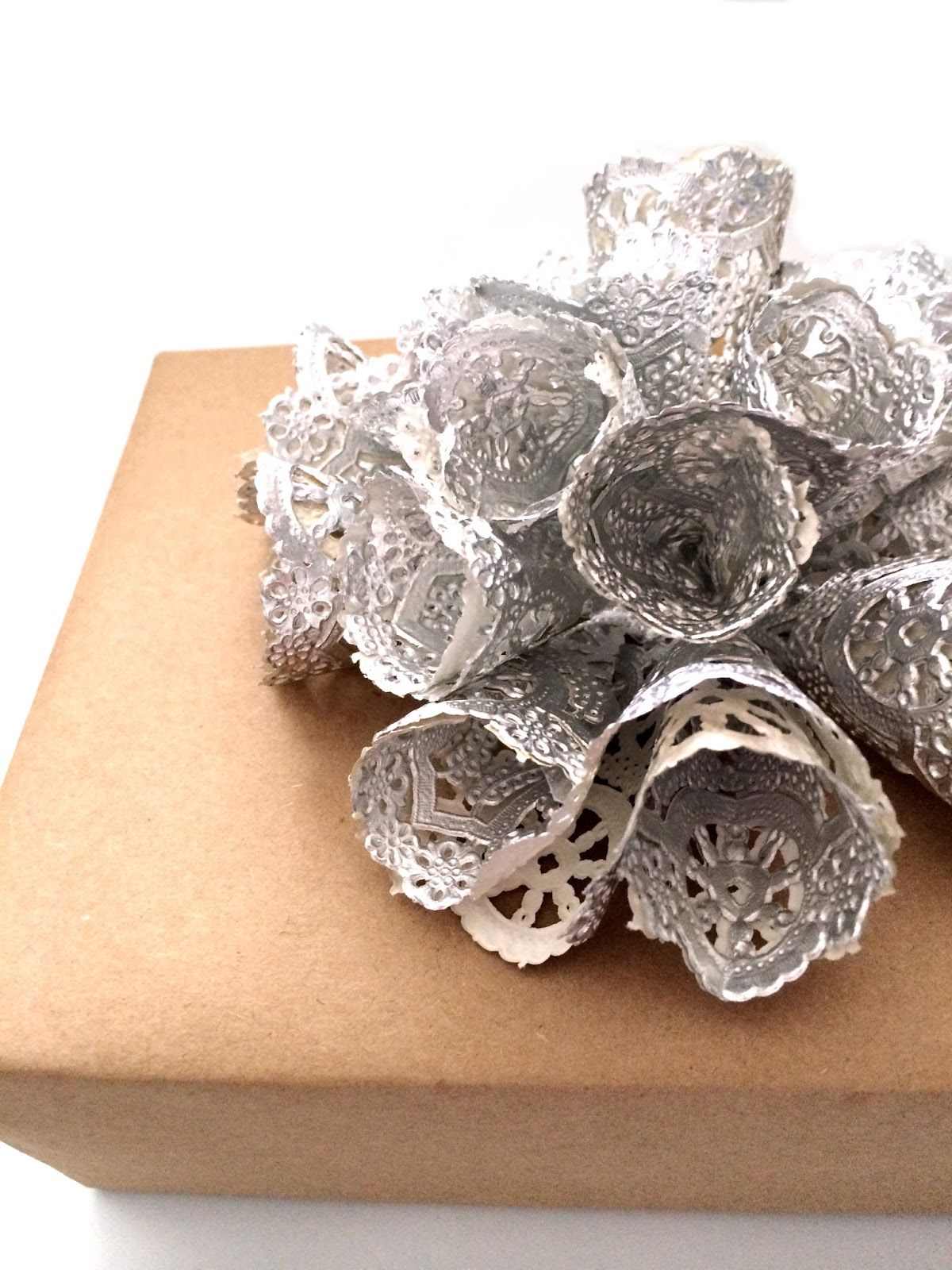 handmade doily gift bows