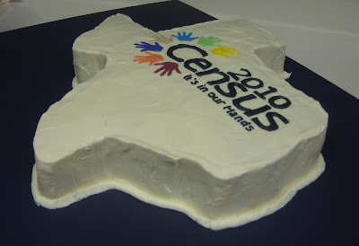 Texas Shaped Census Cake - Angle View 2