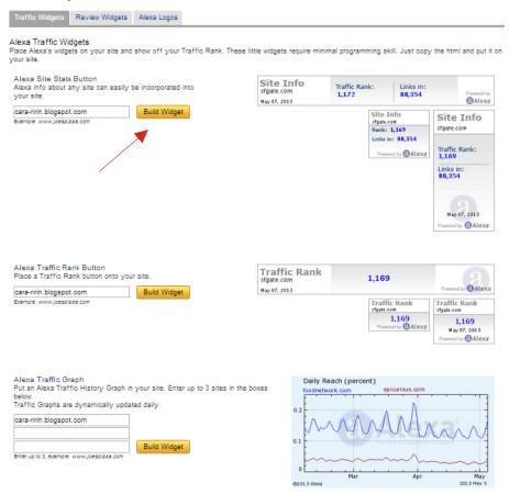 Cara Memasang Widget Alexa Rank di Blog dengan Mudah