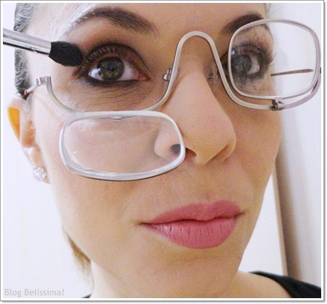 Para quem usa óculos apenas para leitura, não terá problemas de adaptação e  o óculos para maquiagem será mais um detalhe. aa763e4e94