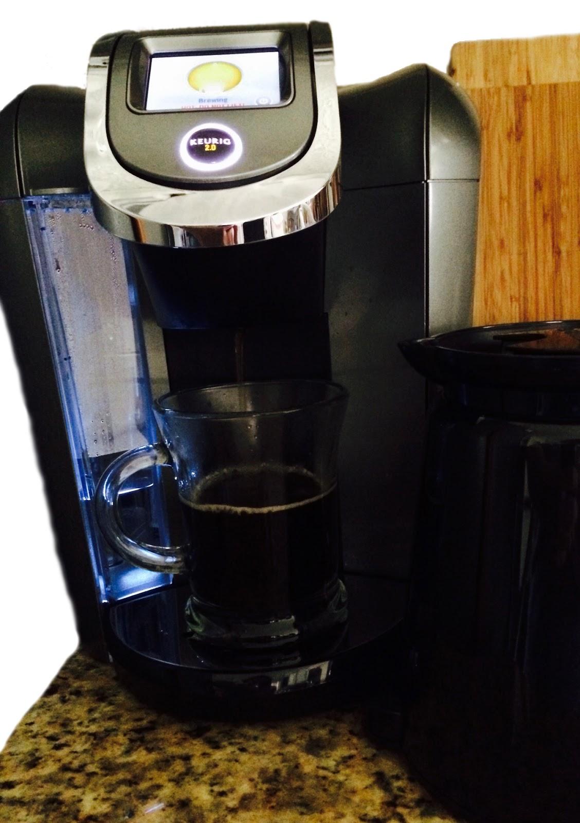 brewing coffee in new keurig