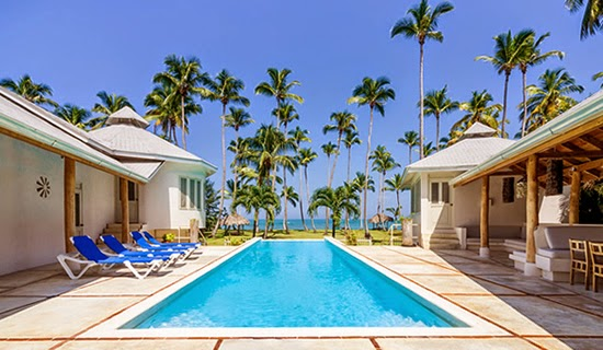 One of the 2 pools at this beachfront property in Las Terrenas