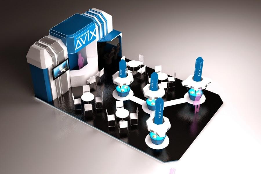 concept design avix booth INexpo Design | Kontraktor Pameran