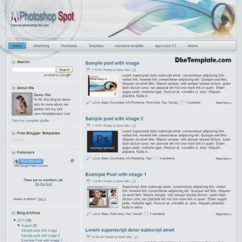 Photoshop Spot Blogger Template