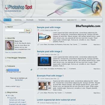Photoshop Spot blogger template. free blogspot template