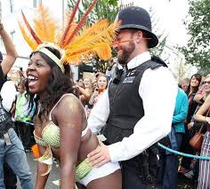 Image result for UK police grinding woman gay pride on street