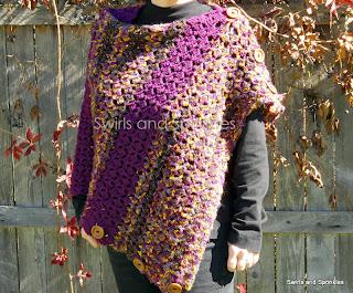 Swirls and Sprinkles: Crochet convertible shawl pattern