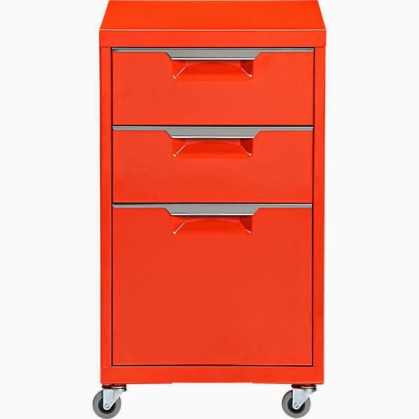 IKEA orange cabinet