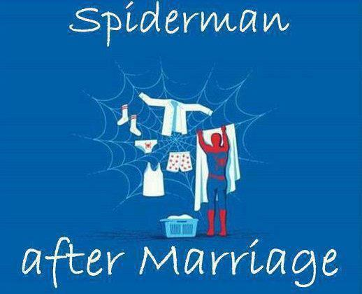 Spiderman after marriage photo
