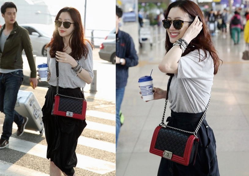 Ryeo Won airport fashion style