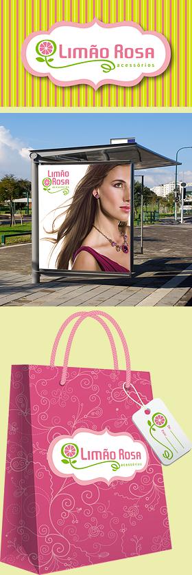 Criação de Identidade Visual para a marca Limão Rosa
