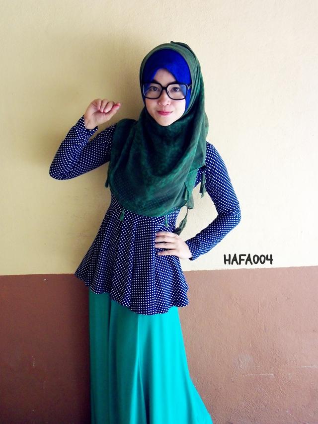 Baju kurung peplum dari blog hazanis