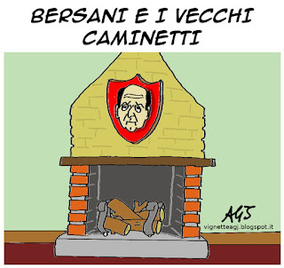 Renzi, Bersani, riforme, satira vignetta
