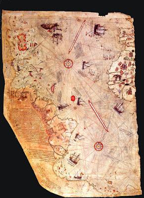 Mapa de Piris Reis, hecho antes de 1492