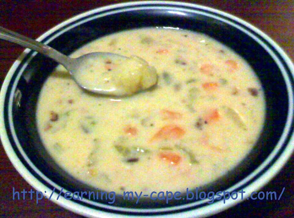 Earning-My-Cape: Ham and Potato Soup