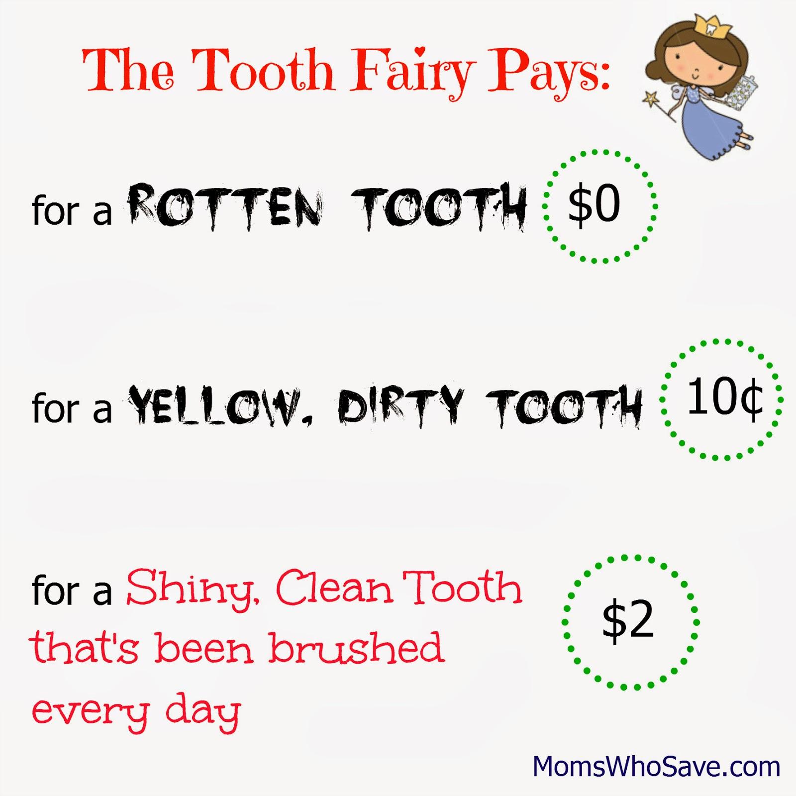 Tooth Fairy Chart - MomsWhoSave.com