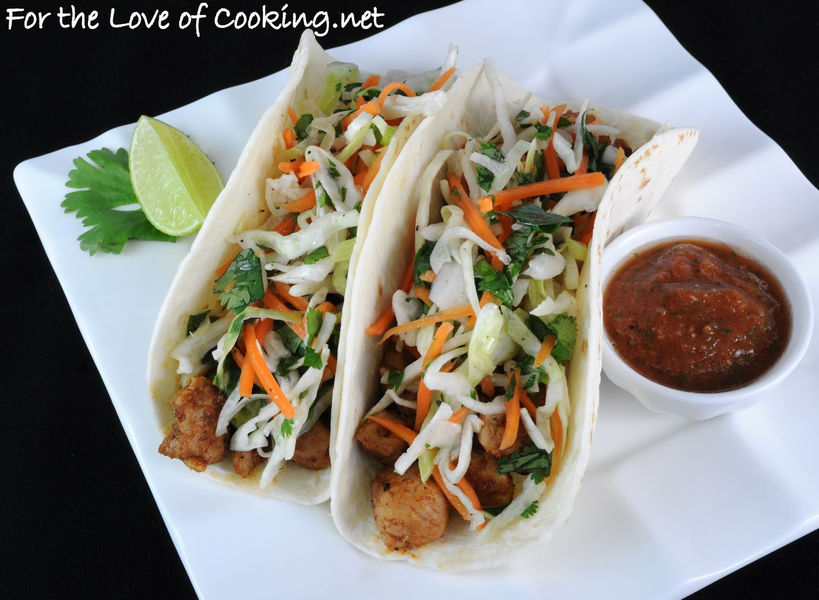 Pork Tenderloin Tacos with Tangy Slaw | For the Love of ...