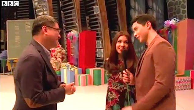 ALDUB being interviewed by BBC Asia Mr. Hizon