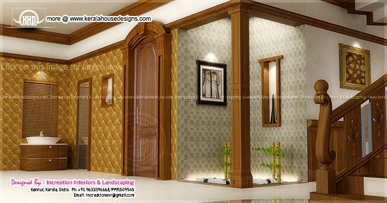 4 bhk kerala style home design for Kerala foyer designs