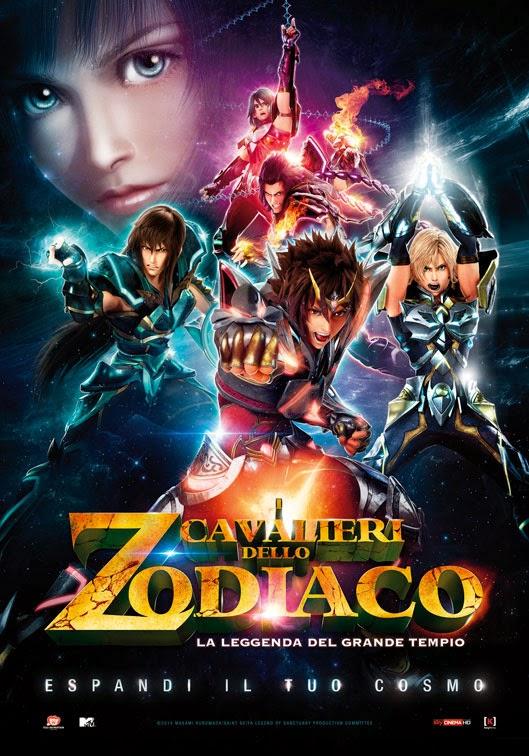 I cavalieri dello zodiaco film la leggenda del grande tempio recensione poster