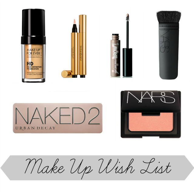 Make Up Wish List