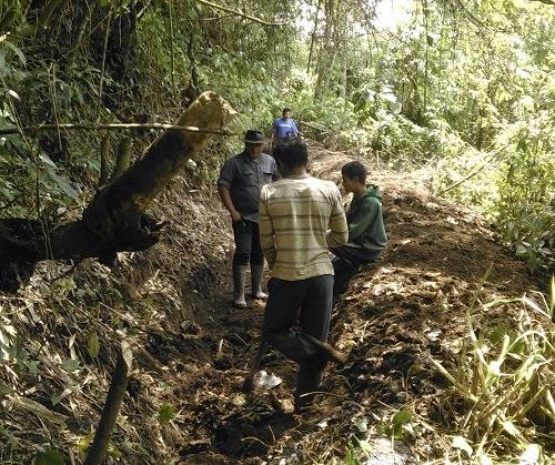 Pembangunan Irigasi Tali Banda Tabek Sarojo Bantuan dari PU Agam