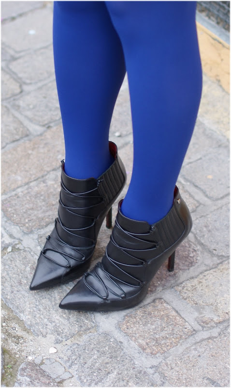 Cesare Paciotti ankle boots, Calzedonia tights