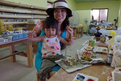 体験/観光 シーサー作り 家族旅行