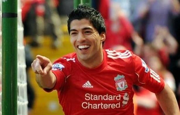 لويس سواريز لاعب نادي ليفربول الانجليزي