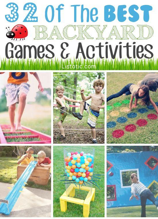 32 Of The Best DIY Backyard Games