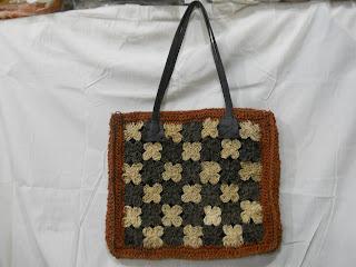 Tas Agel Perca bunga Kotak Tali Vinil, Tas Agel, tas natural, tas alam, tas lokal
