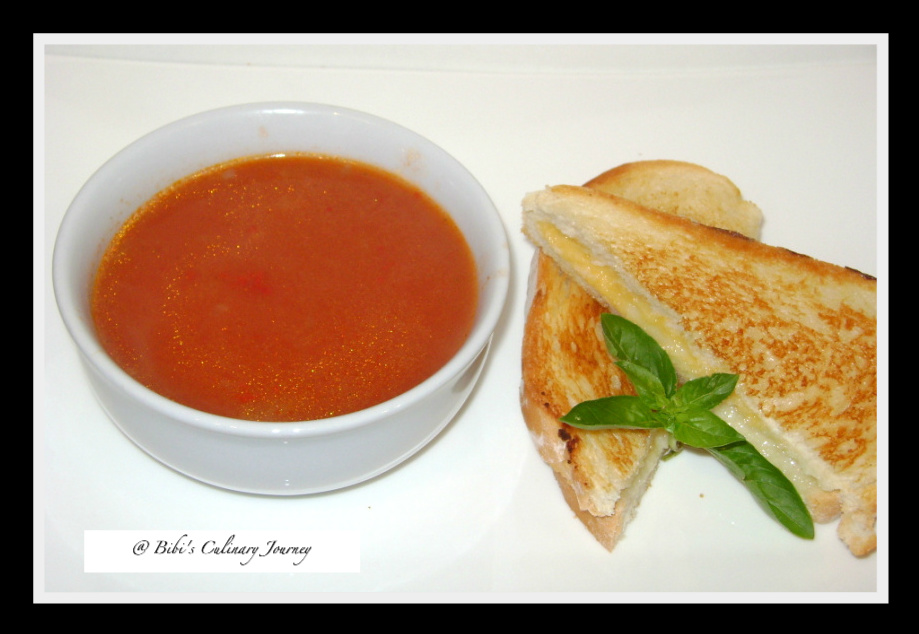 Tomato Soup With Egg Drop Pasta