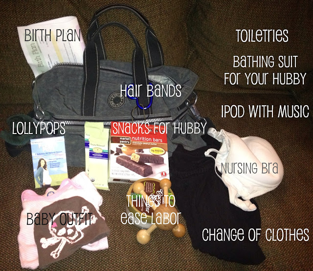 things to pack for a hospital baby delivery with text