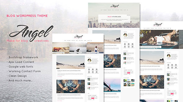 Free Download Angel Creative & Elegant Blog WordPress Theme