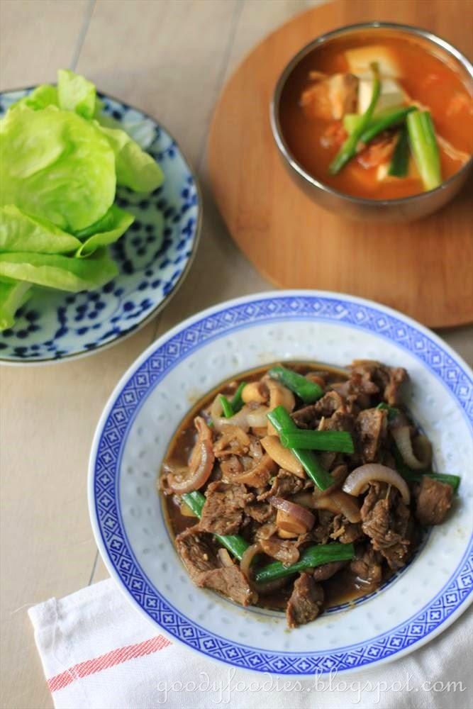 recipe: beef bulgogi (korean grilled / pan-fried marinated beef)