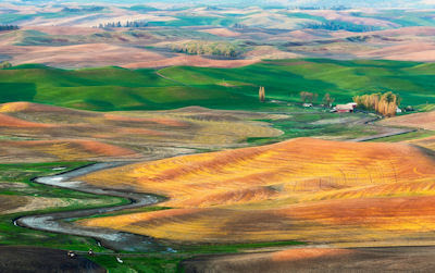 Granja en Palouse entre Washington y Idaho, USA. - Paisajes de Estados Unidos