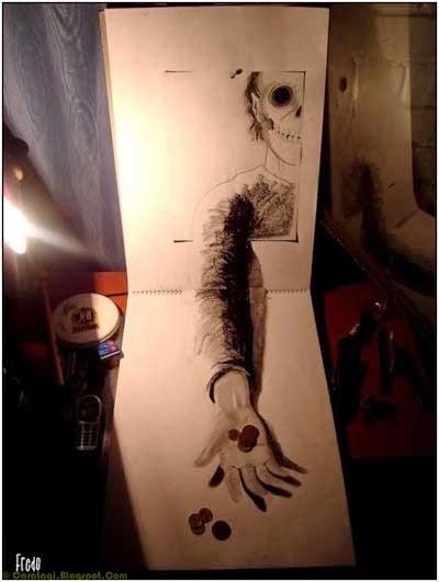 Lukisan Pensil 3D 8