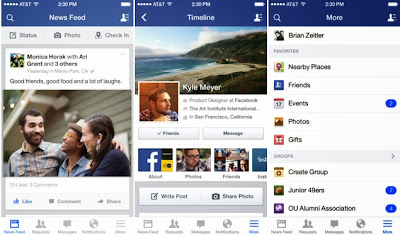 Get Facebook for iOS 7-style redesign