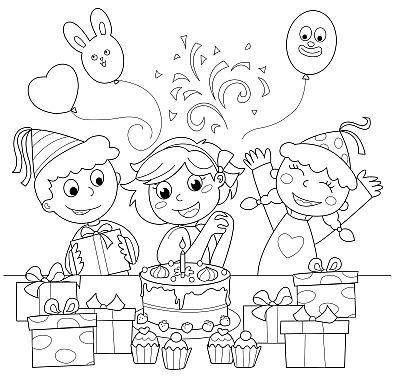 Banco de Imagenes y fotos gratis: Dibujos de Cumpleaños para Pintar ...