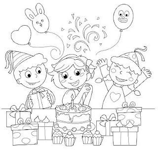Dibujos de Cumpleaños para Pintar, parte 2