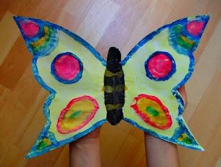 gotowy motyl żółty odbitka symetryczna