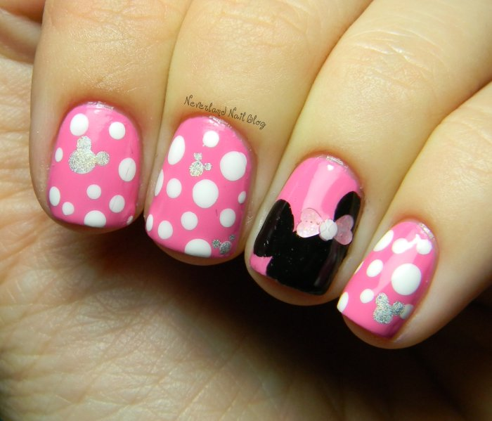 Nail Art Design Minnie Mouse: Minnie mouse inspired nail art design ...