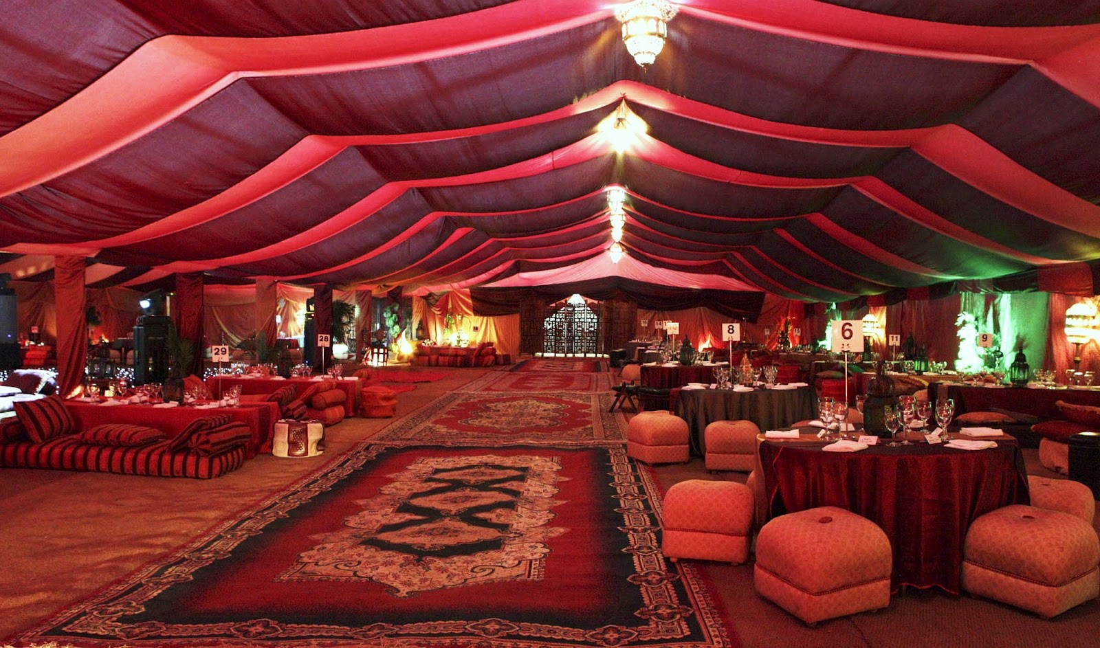 Wedding Themes Style Tent Decorating Ideas