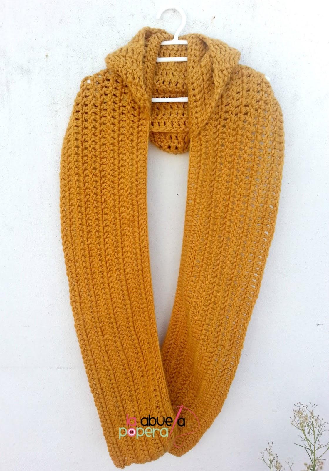 La Abuela Popera: Bufanda con capucha en crochet para combatir las ...