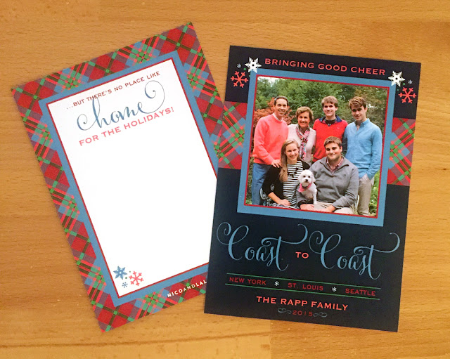 Plaid Christmas Card