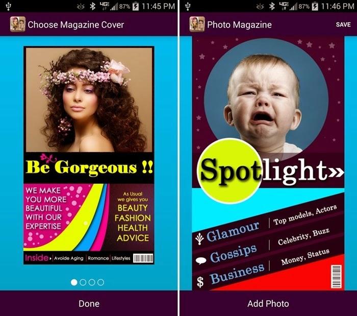 Cara Mengedit Foto Menjadi Sampul Majalah di Android