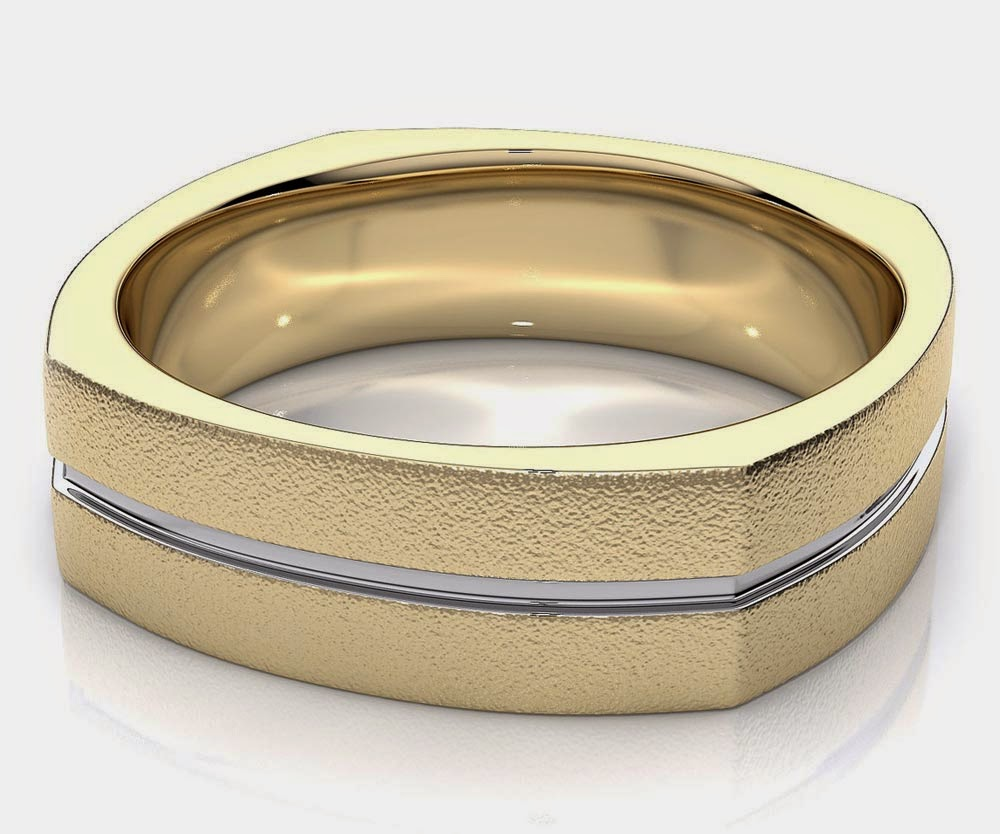 Men's Yellow Gold Light and Silver Wedding Bands Design pictures hd