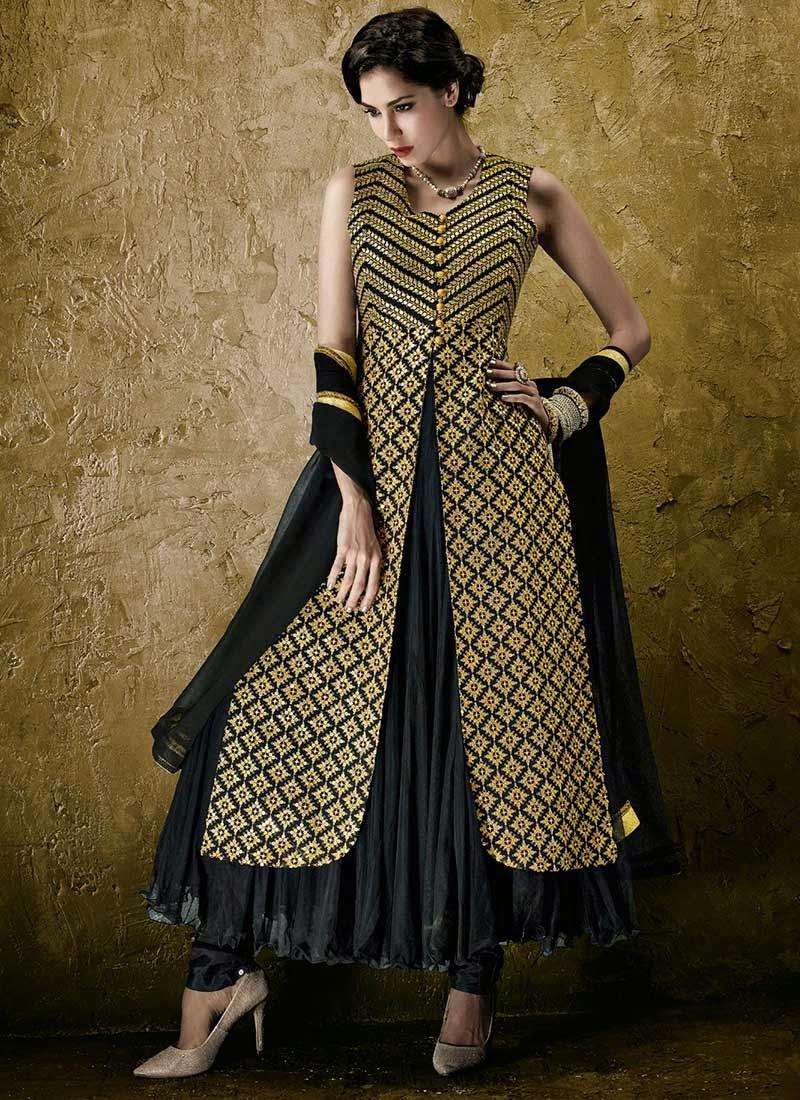 http://www.cbazaar.com/salwar-kameez/anarkali/black-jacket-style-anarkali-suit-p-slcvp2913n.html